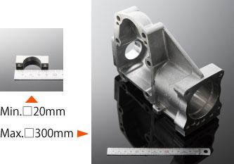 標準対応サイズ:□100mm程度