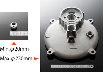 標準対応サイズ:φ100mm程度